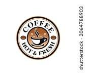 coffee shop vintage logo vector   Shutterstock .eps vector #2064788903