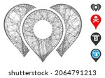 vector wire frame location...   Shutterstock .eps vector #2064791213