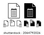 records vector icon in file set ...