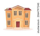 abandoned house with broken... | Shutterstock .eps vector #2064797240
