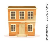 old two storey house facade.... | Shutterstock .eps vector #2064797249