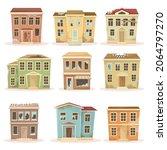 old abandoned residential... | Shutterstock .eps vector #2064797270