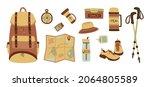 hiking bundle sketch. a set of... | Shutterstock .eps vector #2064805589