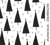 winter graphic seamless pattern ... | Shutterstock .eps vector #2064806240