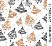 winter graphic seamless pattern ... | Shutterstock .eps vector #2064806243