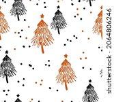 winter graphic seamless pattern ... | Shutterstock .eps vector #2064806246