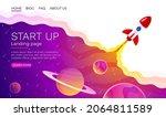 start up idea landing page... | Shutterstock .eps vector #2064811589