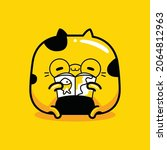 cute cat mascot character... | Shutterstock .eps vector #2064812963
