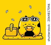 cute cat mascot character... | Shutterstock .eps vector #2064817046