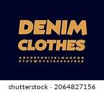 vector trendy signboard denim...   Shutterstock .eps vector #2064827156