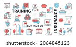 training  insurance and contact ...   Shutterstock .eps vector #2064845123
