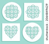 templates for laser cutting ...   Shutterstock .eps vector #2064849629