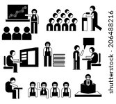 people in conference situations ... | Shutterstock .eps vector #206488216