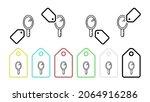 hand mirror vector icon in tag...