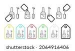 nail polish vector icon in tag...