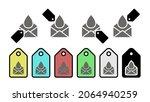 envelope vector icon in tag set ...