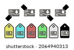 id card vector icon in tag set...