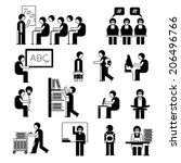 student icons  scholar people... | Shutterstock .eps vector #206496766