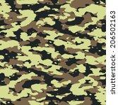ukrainian seamless camouflage... | Shutterstock .eps vector #206502163