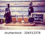 beer flight | Shutterstock . vector #206512378