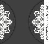 black brochure with luxurious...   Shutterstock .eps vector #2065124600