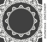a brochure in black with a...   Shutterstock .eps vector #2065124609