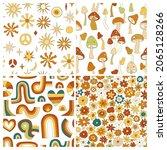 70s groovy hippie retro...   Shutterstock .eps vector #2065128266