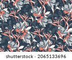 vector floral seamless pattern. ...   Shutterstock .eps vector #2065133696