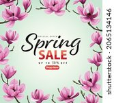 enjoy spring sale with blooming ...   Shutterstock .eps vector #2065134146