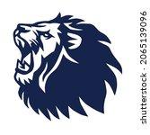 lion head roaring logo vector   Shutterstock .eps vector #2065139096