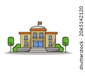 school illustrated on a white...   Shutterstock .eps vector #2065142120