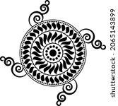 traditional asian  indian motif ...   Shutterstock .eps vector #2065143899