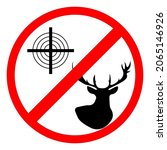hunting is prohibited  deer and ...   Shutterstock .eps vector #2065146926