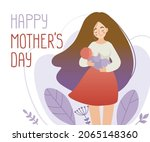 happy mothers day postcard....   Shutterstock .eps vector #2065148360