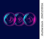billiard neon art logo. pool...   Shutterstock .eps vector #2065153016