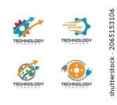 technology logo template vector ...   Shutterstock .eps vector #2065153106