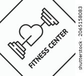 fitness center line icon....   Shutterstock .eps vector #2065158083