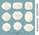 vintage frame set on damask... | Shutterstock .eps vector #206515840