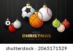 sport christmas greeting card....   Shutterstock .eps vector #2065171529