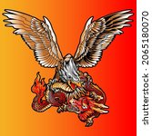 aggressive wild eagle and...   Shutterstock .eps vector #2065180070