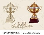 champion cup hand drawn in...   Shutterstock .eps vector #2065180139