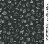 hockey seamless pattern. hand...   Shutterstock .eps vector #2065181279