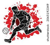gaelic football player action...   Shutterstock .eps vector #2065192349