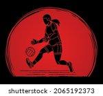 gaelic football player action...   Shutterstock .eps vector #2065192373