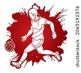 gaelic football player action...   Shutterstock .eps vector #2065192376