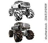 truck car isolated on white...   Shutterstock .eps vector #2065193909