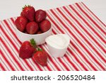 fresh strawberries with sweet... | Shutterstock . vector #206520484