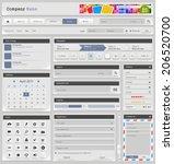 web design elements set. vector ... | Shutterstock .eps vector #206520700