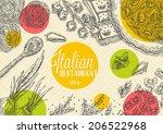 italian restaurant template   Shutterstock .eps vector #206522968
