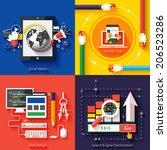 icons for web design  seo ... | Shutterstock . vector #206523286